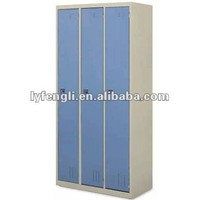 Modern Stainless Steel Storage Clothes Detachable Almirah/Wardrobe with 3 Doors and Keylock
