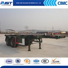 CIMC two axle skeletal semi trailer
