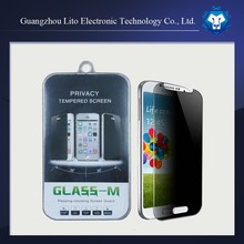 Wholesale 3m privacy tempered glass screen protector for samsung galaxy s4