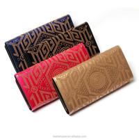 China online Sheepskin woven pattern calf leather wallet women wallet