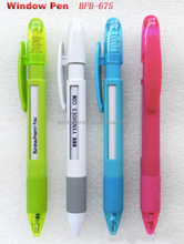 Cheap customized logo ad promotional banner pen