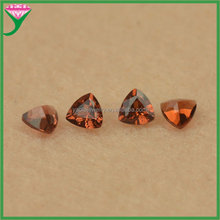 3*3mm charming loose fat triangle cut natural mozambique red garnet