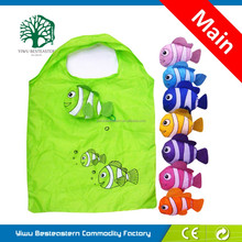 2015 Hottest!!! 190t polyester fruit folding shopping bags with print, tote bag