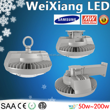 Samsung/Osram chip 110lm/w IP65 led flat industrial led light pizza high bay light 50w-200w for warehouse/workshop/factory