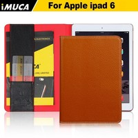 Immediate delivery! Imported Italy genuine leather case for ipad air 2 wallet case for apple ipad air 2 smart cover