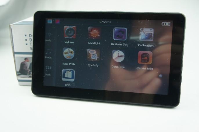 7 pulgadas sistema de navegación GPS con funciones completas