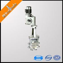 A216 WCB flanged hydraulic driven knife gate valve