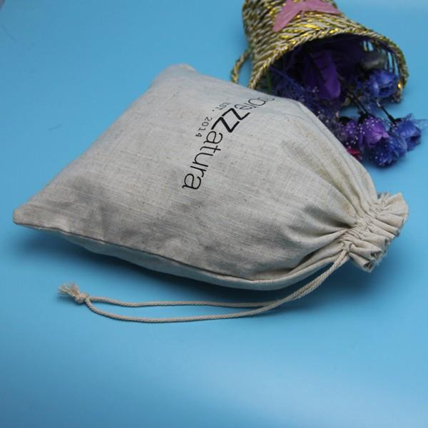 China Professional Manufacturer Silk Screen Printing Customized Cotton String Bag Drawstring Packing Bag