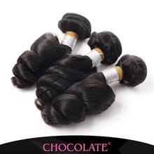 Unprocessed virgin hair Peruvian virgin hair loose wave 7A Grade 100% human hair extension 3pcs/lot natural color