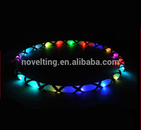 New Design 2015 Hot Sale Muti-colored Lighted flashing Glow Led Hula Hoop/Fitness Cheap Hula Hoop
