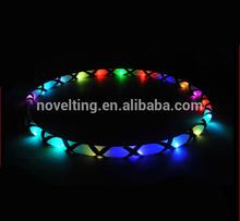 New Design 2015 Hot Sale Muti-colored Lighted flashing Glow Led Hula Hoop/Fitness Cheap Hula Hoop