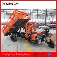 2015 New Product OEM Docker Five Wheel Cargo Tricycle Motorcycle With Dumper
