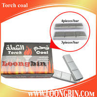 Torch charcoal 3pcs coal for hookah smoking