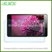Mobile phone use high definition tempered glass screen protector for lenovo p780 , high quality screen protector