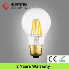 Low Price LED Light A60 E27 Glass Filament LED Bulb 8W
