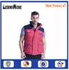 2015 New design sleeveless patchwork mutipocket embroidered zipper-up gym vest for men
