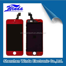 HOT selling made in china lcd display touch screen digitizer for apple iphone 5c color conversion kit