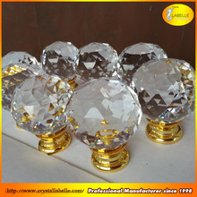30mm Clear Crystal Knobs Crystal Pull Handles Clear Glass Knobs Wholesale