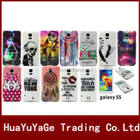 Luxury Colorful Pattern Soft TPU phone cases cover for Samsung Galaxy S5 i9600