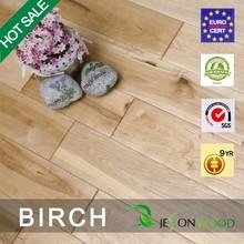 Handscraped Birch Flooring/solid wood flooring/Natural