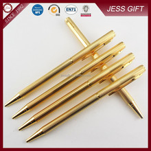 Gold wire drawing pen pure gold pen metal golden ball pen