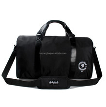 leather canvas polyester duffle bag,wholesale gym sports bag ,mens travel bag