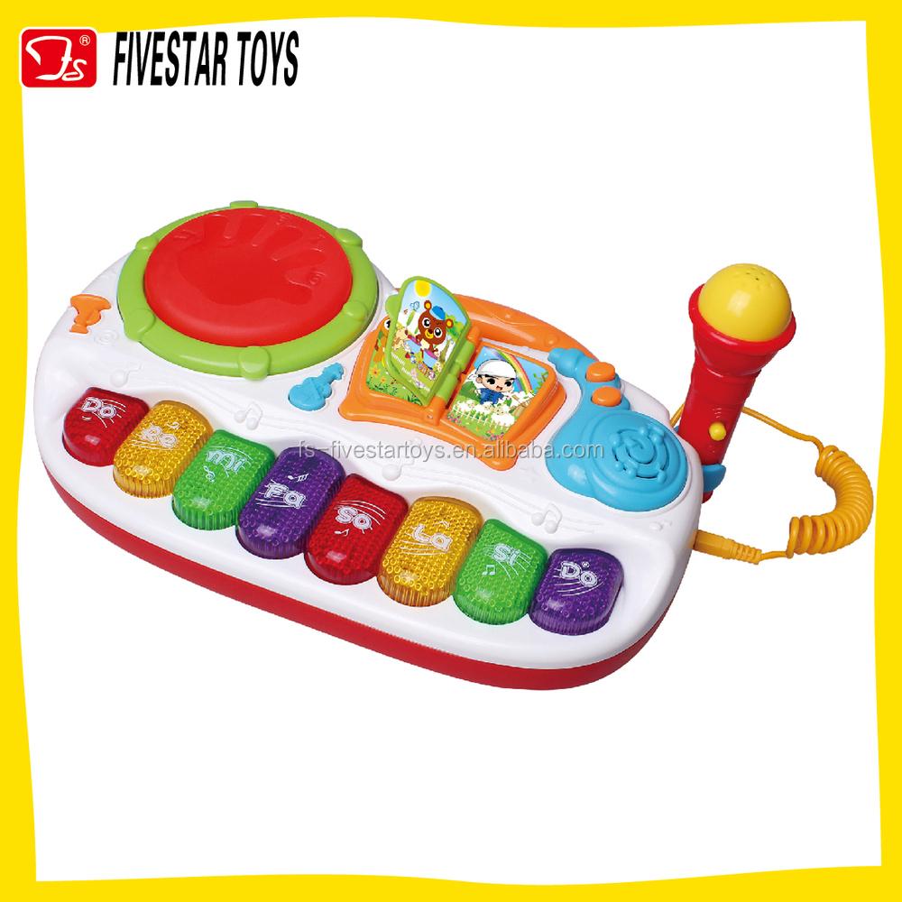 バッテリ駆動ビーツおもちゃミュージカル2で1幼児ドラムキーボードおもちゃセット付きマイク