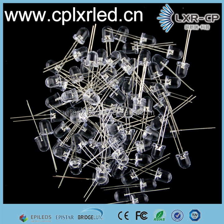Hot sale 365NM 380NM 400NM 420NM 730NM 840NM 950NM 5mm Round Red UV IR Dip led Emitting Chip diode