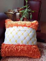 china factory customized fuffy latest design velvet wooden sofa seat cushion