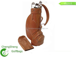 fashion design leather golf cart bag