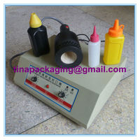 Guangzhou manuafacturer desktop manual plastic bottle sealer machine for sharp cap