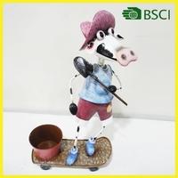 2015 Special design garden decoration cow craft planter pot