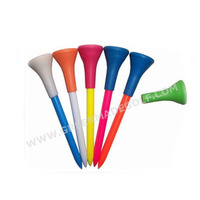 70mm Plastic Golf Tees with Rubber top