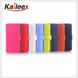 2015 New Products Leather Flip Case For Samsung Galaxy S6 Wallet Pu Leather Case