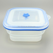 2015 New Design Transparent Silicone Lunch Box for Men