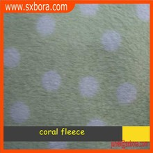 Super soft printed polyester coral fleece fabric