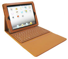 Factory wholesale Silicone Bluetooth Keyboard case for Ipad 3 flip cover Made in China
