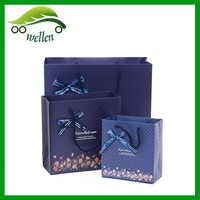 Chian FSC-certified manufacturer bow print gift dots paper bags