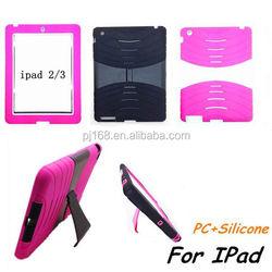 hybrid heavy duty combo hard kickstand cover case for ipad 2
