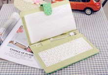 Matcha Green PU leather keyboard tablet case for android tablet PC 7 INCH (OEM)
