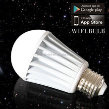 2013 Shenzhen innovation 6 Watts Iphone terminal control new led bulb with e27 e26 b22 base