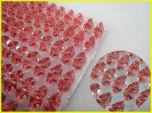 Hot Sale Rose 4*4mm Triangle Shape DIY Sticker, Epoxy Self-adhesive Sticker, Rhinestone Sheet