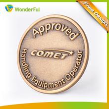 Hot Sale Cheap Custom Logo Zinc Alloy Souvenir Ancient Bronze Finished Roman Old Metal Coin