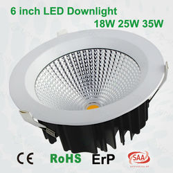18w 25w 35w dimmable downlight 0-10v dali dim downlight COB led downlight CE RoHS SAA downlight 6 inch led downlight