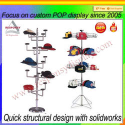 Metal wire hat display rack/case/stand