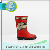 High quality Low price Rubber Rain leather work boots