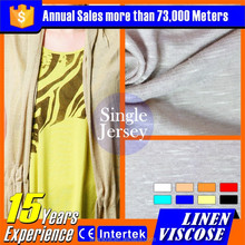 linen rayon mixed knitted fabric