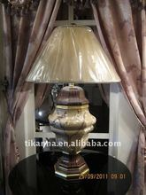 2012 wood antique table lamp