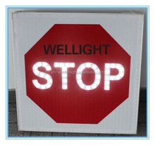 intelligent controlled solar powered LED road Traffic STOP Signal or road traffic STOP signs