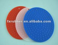 wholesale round shapeflat silicon drain plug sink stopper Manufacture silicone sink mat